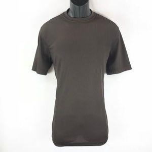 Men's Dressy Brown Ribbed T-Shirt By LOG-IN UOMO